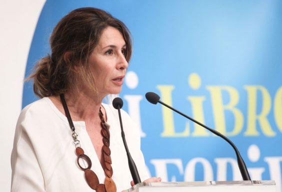 Ana García-Siñeriz transmitió a los jóvenes su amor por la lectura y los libros. © Luis Serrano