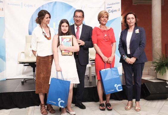 Lara Vázquez, del IES Sebastián Fernández de Cartaya, ganadora por la provincia de Huelva. © Luis Serrano
